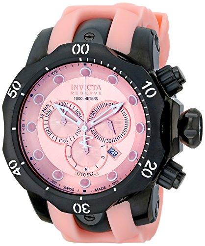 インヴィクタ インビクタ 腕時計 メンズ 時計 Invicta Men's 11974 Venom Reserve Chronograph Pink Dial Pink Polyurethane Watch