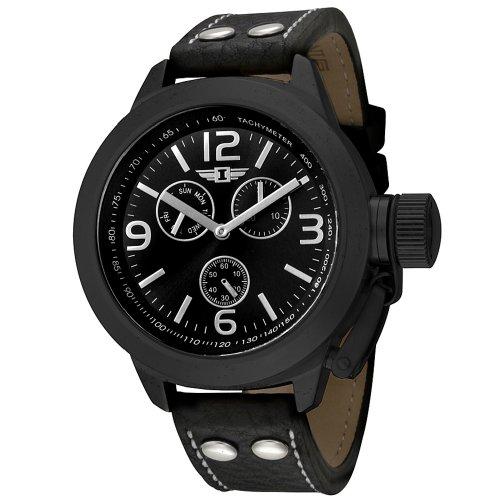 インヴィクタ インビクタ 腕時計 メンズ 時計 I By Invicta Men's 70113-003 Multi-Function Black Ion-Plated Leather Watch