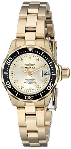 インヴィクタ インビクタ 腕時計 レディース 時計 Invicta Women's 17038 Pro Diver Analog Display Japanese Quartz Gold Watch