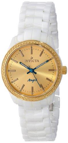 インヴィクタ インビクタ 腕時計 レディース 時計 Invicta Women's 14909 Ceramics Gold Dial White Ceramic Watch