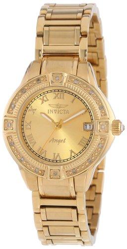 インヴィクタ インビクタ 腕時計 レディース 時計 Invicta Women's 14802 Angel 18k Gold Ion-Plated Stainless Steel and Diamond Bracelet Watch