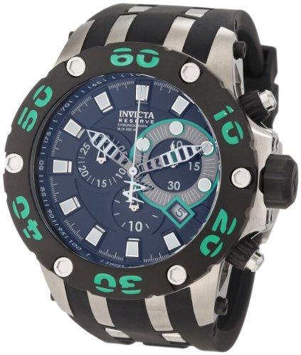 インビクタ 時計 インヴィクタ メンズ 腕時計 Invicta Men's 0904 Subaqua Reserve Chronograph Black Dial Black Polyurethane Watch