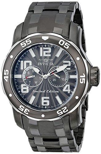 インビクタ 時計 インヴィクタ メンズ 腕時計 Invicta Men's 18037SYB Pro Diver Gunmetal Ion-Plated Stainless Steel Watch