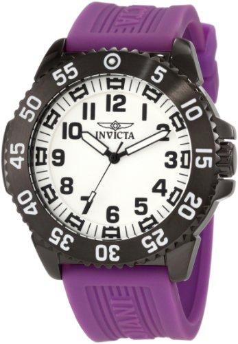 インビクタ 時計 インヴィクタ メンズ 腕時計 Invicta Men's 11406 Specialty White Dial Purple Polyurethane Watch