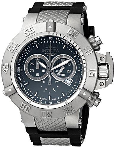 インビクタ 時計 インヴィクタ メンズ 腕時計 Invicta Men's 1380 Subaqua Noma III Chronograph Black Dial Black Silicone Watch
