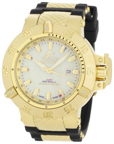 インビクタ 時計 インヴィクタ メンズ 腕時計 Invicta Men's 0738 Subaqua Noma III Collection GMT Black Polyurethane Watch
