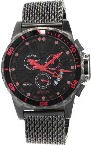 インビクタ 時計 インヴィクタ メンズ 腕時計 Invicta Specialty GMT Multi-Function Black Dial Stainless Steel Mens Watch 80275