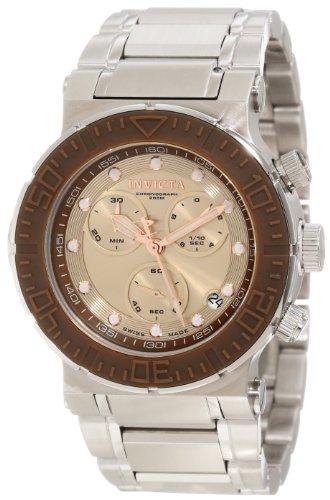インビクタ 時計 インヴィクタ メンズ 腕時計 Invicta Men's 10933 Ocean Reef Reserve Chronograph Copper Dial Stainless Steel Watch