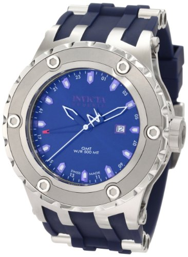 インビクタ 時計 インヴィクタ メンズ 腕時計 Invicta Men's 1397 Reserve GMT Blue Dial Blue Polyurethane Watch
