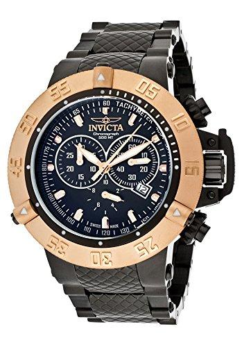 インビクタ 時計 インヴィクタ メンズ 腕時計 Invicta Subaqua Black Leather Quartz Mens Watch 12718