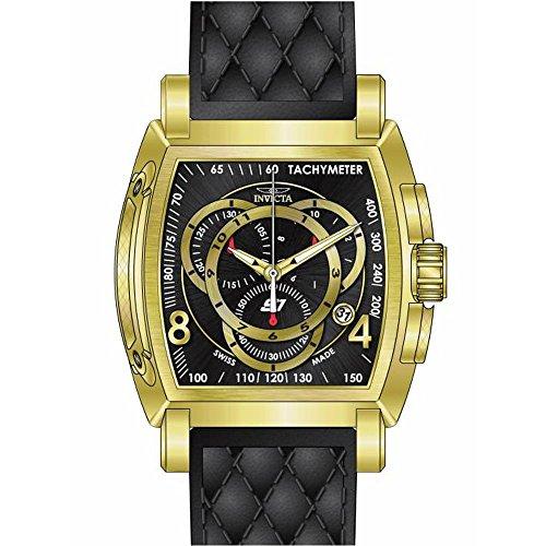 インビクタ 時計 インヴィクタ メンズ 腕時計 Invicta S1 Rally Chronograph Black Dial Black Leather Mens Watch 15796