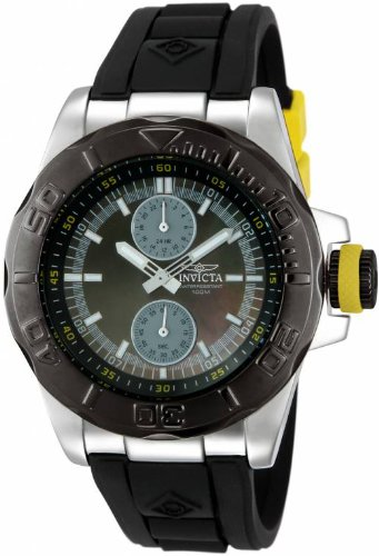 インビクタ 時計 インヴィクタ メンズ 腕時計 Invicta Mens Pro Diver Ocean Baron GMT Black MOP Dial Rubber Strap Watch 13800