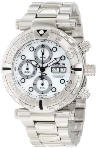 インビクタ 時計 インヴィクタ メンズ 腕時計 Invicta Men's 10479 Subaqua Noma I Reserve Automatic Chronograph Mother-Of-Pearl Dial Stainless Steel Watch
