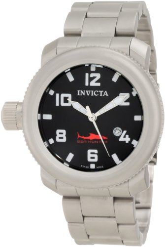 インビクタ 時計 インヴィクタ メンズ 腕時計 Invicta Men's 11236 Russian Diver Sea Hunter Black Dial Stainless Steel Watch