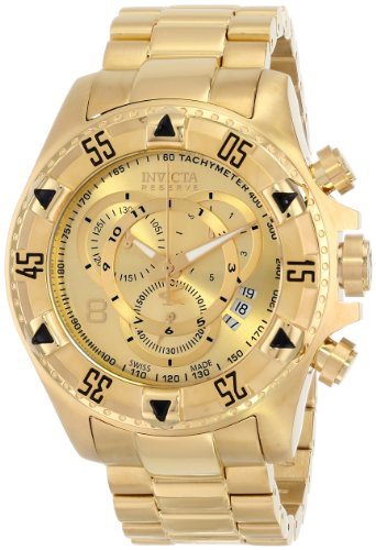 インビクタ 時計 インヴィクタ メンズ 腕時計 Invicta Men's 6471 Excursion Reserve Chronograph 18k Gold Ion-Plated Stainless Steel Watch
