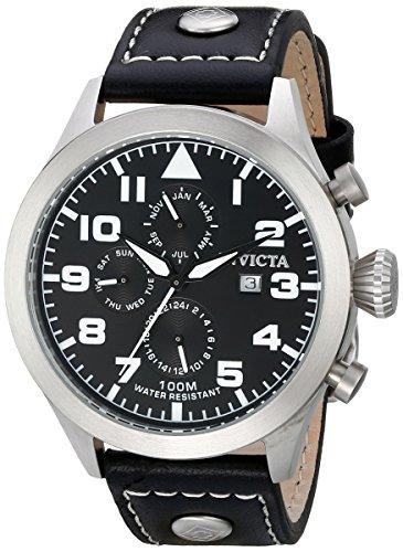 インビクタ 時計 インヴィクタ メンズ 腕時計 Invicta Men's 0350 II Collection Black Leather Watch