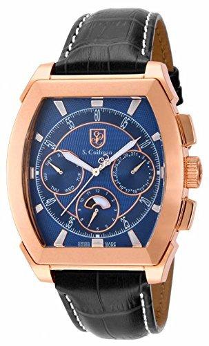 インビクタ 時計 インヴィクタ メンズ 腕時計 Invicta S Coifman Multi-Function Blue Dial Black Leather Mens Watch SC0091
