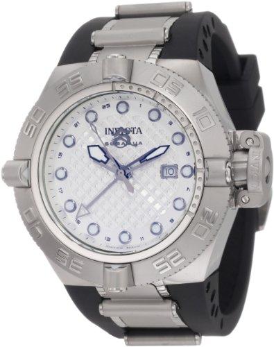 インビクタ 時計 インヴィクタ メンズ 腕時計 Invicta Men's 1154 Subaqua Noma IV GMT Silver Dial Black Polyurethane Watch