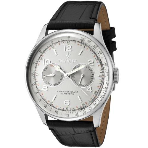 インビクタ 時計 インヴィクタ メンズ 腕時計 Invicta Men's 6749 Vintage Silver Dial Black Leather Watch