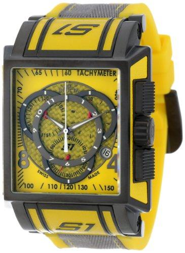 インビクタ 時計 インヴィクタ メンズ 腕時計 Invicta Men's 11695 S1 Chronograph Yellow Dial Yellow Polyurethane and Grey Nylon Watch