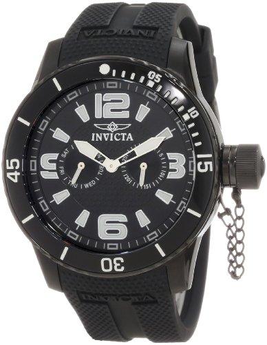 インビクタ 時計 インヴィクタ メンズ 腕時計 Invicta Men's 1794 Specialty Black Textured Dial Black Silicone Strap Watch