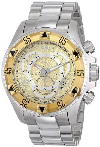 インビクタ 時計 インヴィクタ 腕時計 EXCURSION GOLD DIAL QTZ CHRONO GOLD SS