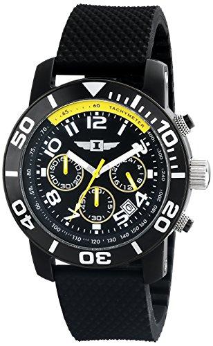 インビクタ 時計 インヴィクタ メンズ 腕時計 I By Invicta Men's 41701-001 Chronograph Black Stainless Steel Rubber Watch