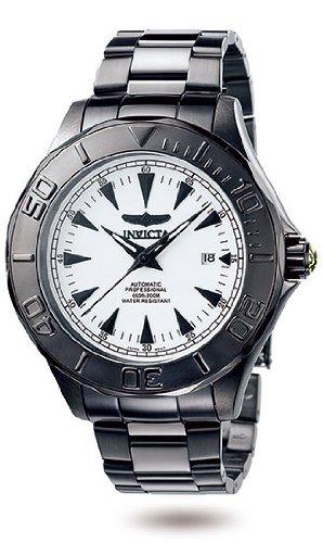 インビクタ 時計 インヴィクタ メンズ 腕時計 Men's Black Stainless Steel Pro Diver Automatic White Dial