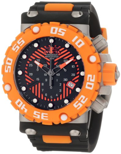 インビクタ 時計 インヴィクタ メンズ 腕時計 Invicta Men's 10039 Subaqua Nitro Diver Chronograph Black and Orange Dial Watch