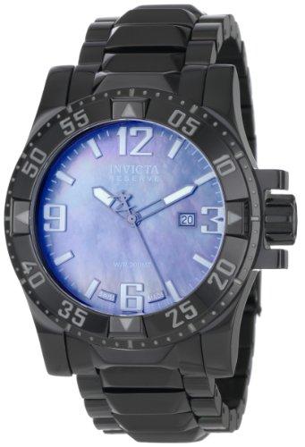 インビクタ 時計 インヴィクタ メンズ 腕時計 Invicta Men's 0516 Reserve Collection Grey Mother-Of-Pearl Black Ion-Plated Stainless Steel Watch