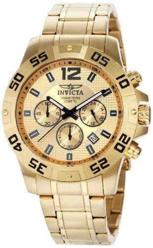 インビクタ 時計 インヴィクタ メンズ 腕時計 Invicta Men's 1503 Chronograph 18k Gold Ion-Plated Stainless-Steel Watch