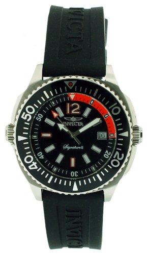 インビクタ 時計 インヴィクタ メンズ 腕時計 Invicta Signature II Black Dial Stainless Steel Black Rubber Mens Watch 7355