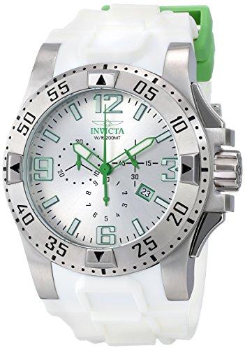 インビクタ 時計 インヴィクタ メンズ 腕時計 Invicta Men's 11794 Excursion Chronograph Silver Dial White Polyurethane Watch