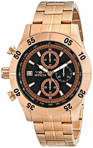 インビクタ 時計 インヴィクタ メンズ 腕時計 Invicta Men's 11278 Specialty Chronograph Black Textured Dial Rose Gold Stainless Steel Watch