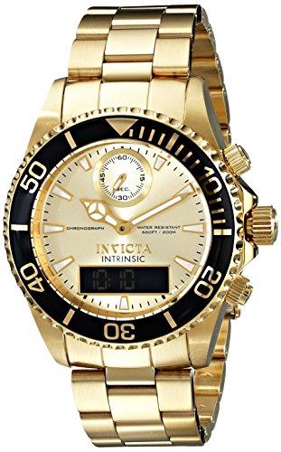 インビクタ 時計 インヴィクタ メンズ 腕時計 Invicta Men's 12472 Intrinsic Analog-Digital Display Swiss Quartz Gold Watch