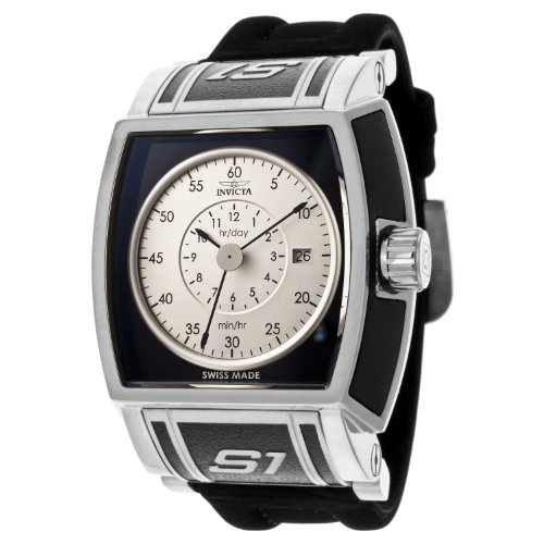 インビクタ 時計 インヴィクタ メンズ 腕時計 Invicta Men's 12595 S1 Rally Black and Silver Dial Black Polyurethane Watch