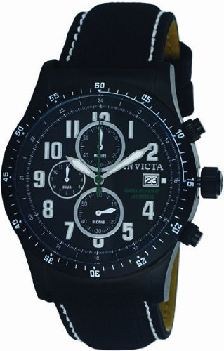 インビクタ 時計 インヴィクタ メンズ 腕時計 Invicta Military Chronograph Black Ion-plated Black Dial Mens Watch 1321