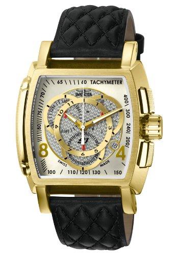インビクタ 時計 インヴィクタ メンズ 腕時計 Invicta Men's Sport Japanese Quartz Chronograph Leather Strap Watch