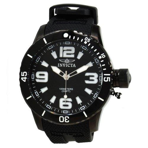 インビクタ 時計 インヴィクタ メンズ 腕時計 Invicta Men's 1674 Specialty Black Textured Dial Black Polyurethane Watch