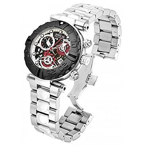 インビクタ 時計 インヴィクタ メンズ 腕時計 Invicta Mens Reserve Subaqua Noma Swiss 25 Jewel COSC Chrono Silver & Black SS Watch 15018