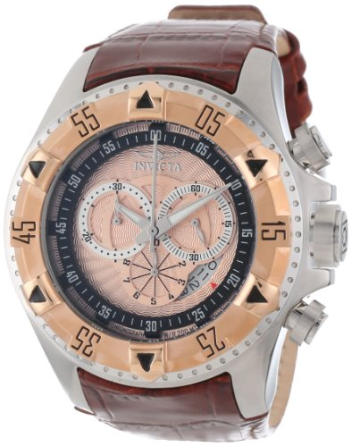 インビクタ 時計 インヴィクタ メンズ 腕時計 Invicta Men's 12694 Excursion Sport Chronograph Rose Textured Dial Brown Leather Watch