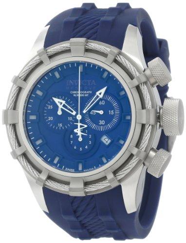 インビクタ 時計 インヴィクタ メンズ 腕時計 Invicta Men's 1373 Bolt Chronograph Dark Blue Dial Dark Blue Silicone Watch
