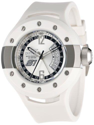 インビクタ 時計 インヴィクタ メンズ 腕時計 Invicta Men's 1368 S1 Rally GMT Silver Dial White Polyurethane Watch