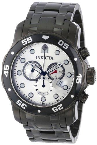 インビクタ 時計 インヴィクタ メンズ 腕時計 Invicta Men's 80075 Pro Diver Chronograph Silver Dial Black Ion-Plated Stainless Steel Watch