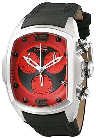 インビクタ 時計 インヴィクタ メンズ 腕時計 Invicta Men's 6095 Lupah Collection Revolution Chronograph Black Leather Watch