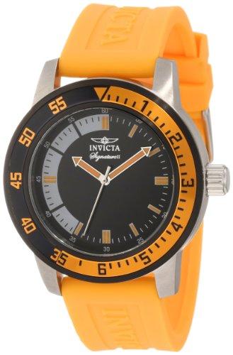 インビクタ 時計 インヴィクタ メンズ 腕時計 Invicta Men's 7466 Signature Black Dial Orange Polyurethane Watch