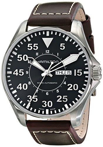 卸価格で ハミルトン カーキ メンズ 腕時計 Hamilton Men's H64715535 Khaki Pilot Black Dial Watch