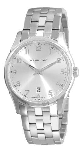 ハミルトン ジャズマスター メンズ 腕時計 Hamilton Men's H38511153 Jazzmaster Thinline Silver Dial Watch