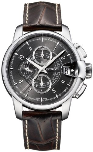�ミルトン メンズ 腕時計 Hamilton Timeless Classic Railroad Black Dial Automatic Chronograph Mens Watch H40616535