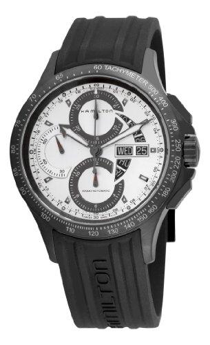 ハミルトン カーキ メンズ 腕時計 Hamilton Men's H64656351 Khaki King Chronograph White Dial Watch